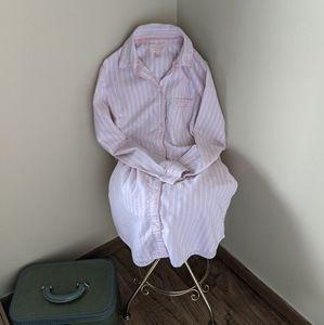 Victoria Secret Pink & White Button Down Nightgown